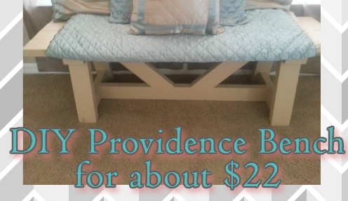 Diy Providence Bench (for less than $22)