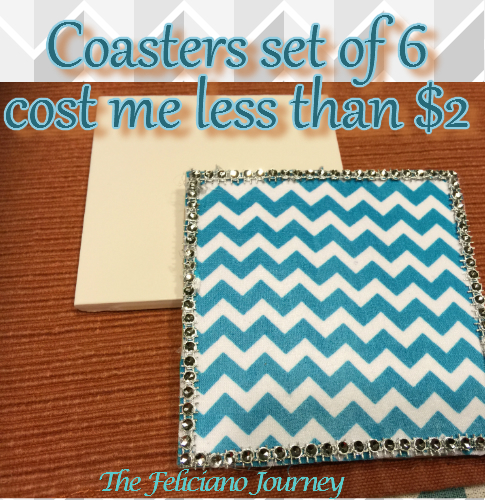 Coasters set of 6 which cost me less than $2