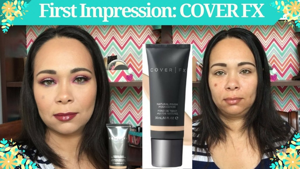 First impression on COVER FX Natural Finish Oil Free Foundation