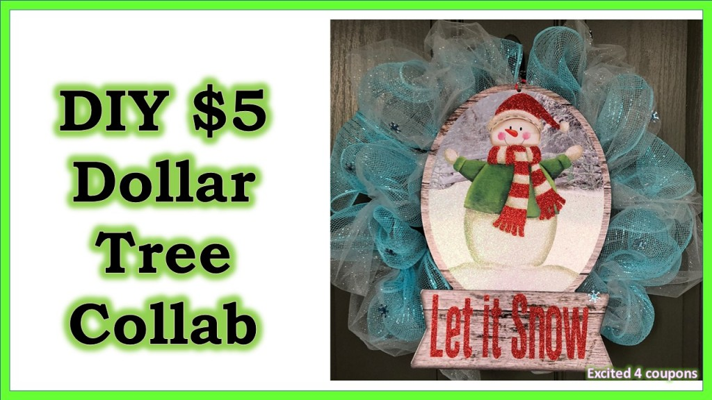 DIY – Dollar Tree $5 Decoration (Wreath)