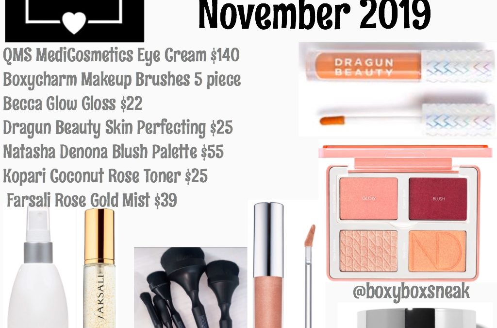 Boxycharm November 2019 Full Box Reveal