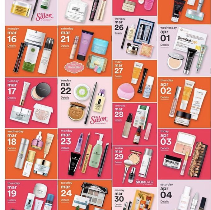 Spring 2020 – Ulta 21 Days of Beauty Event (3/15/20 – 4/4/20)