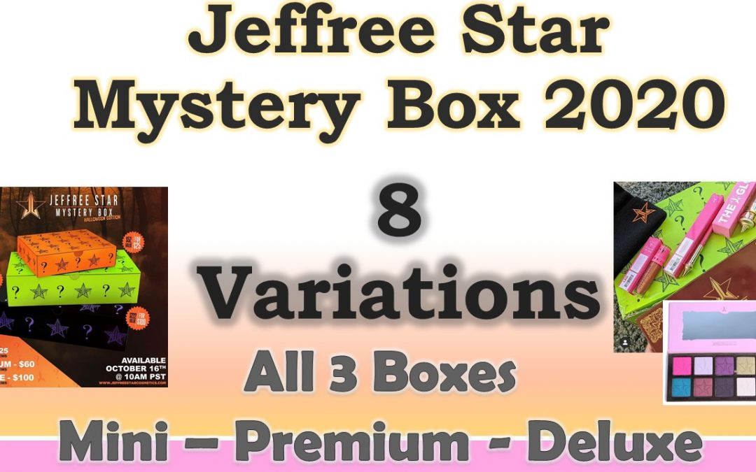 Jeffree Star Halloween Mystery Box 2020 Spoilers Mini, Premium and Deluxe (video included)