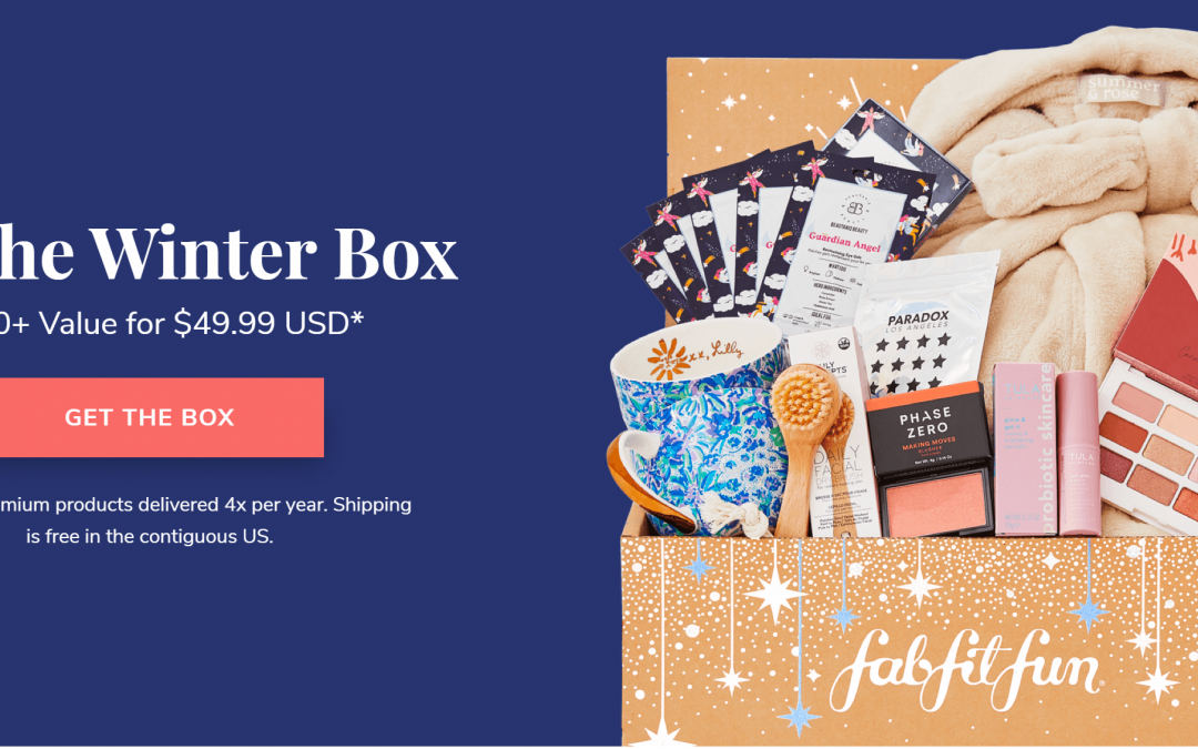 FabFitFun Winter 2020 Customization is open for (Select Members)
