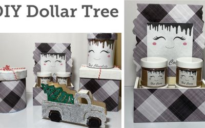 3 Easy DIYs $1 DIY Dollar Tree Christmas 2020 – Hot Cocoa Station – Glam Red Truck