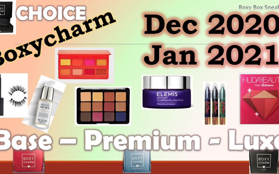 Boxycharm Premium January 2021 1st Sneak Peek (exclusive palette)