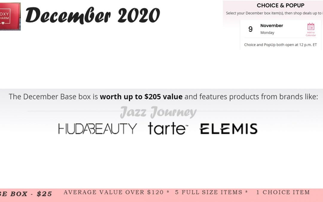 Boxycharm Base December 2020 New Spoiler 3 Brands Revealed