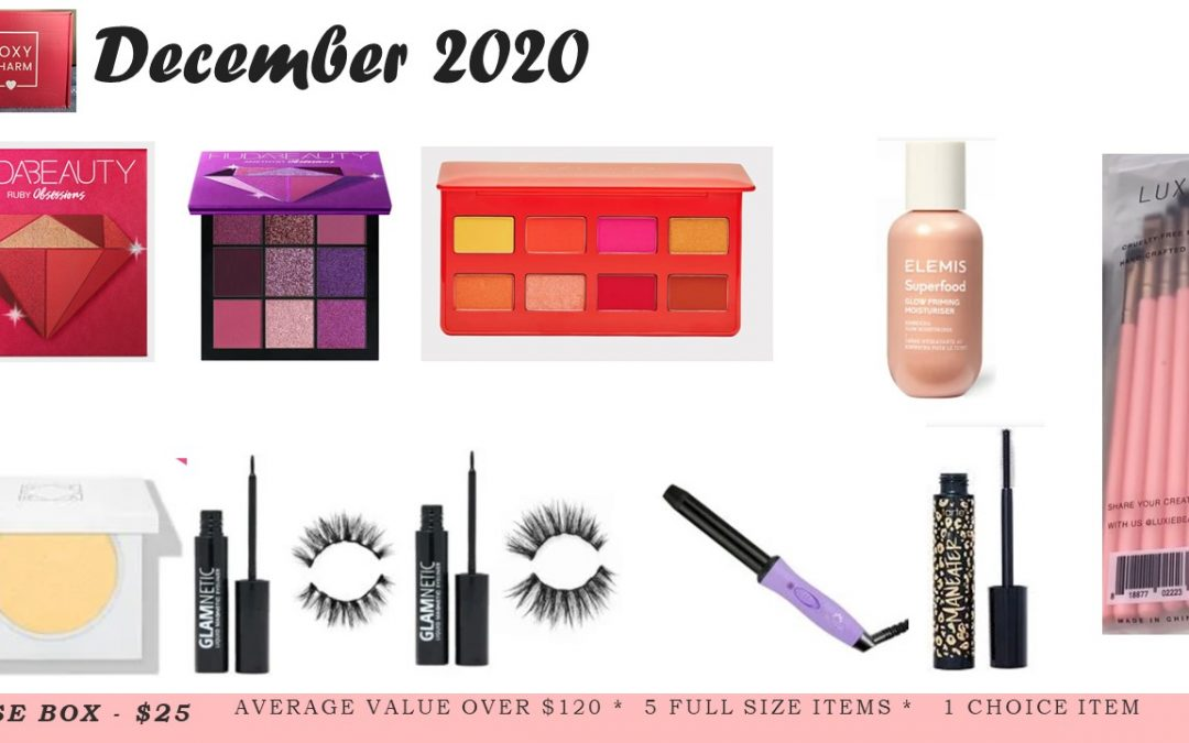 Boxycharm Base December 2020 New Spoiler 10 Items total