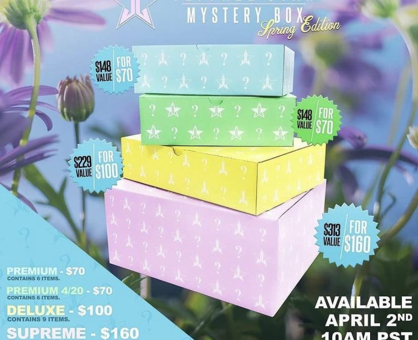 Jeffree Star Spring Mystery Box 2021 – 5 Options prices and date